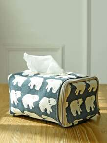 Bear Print Tissue Cover