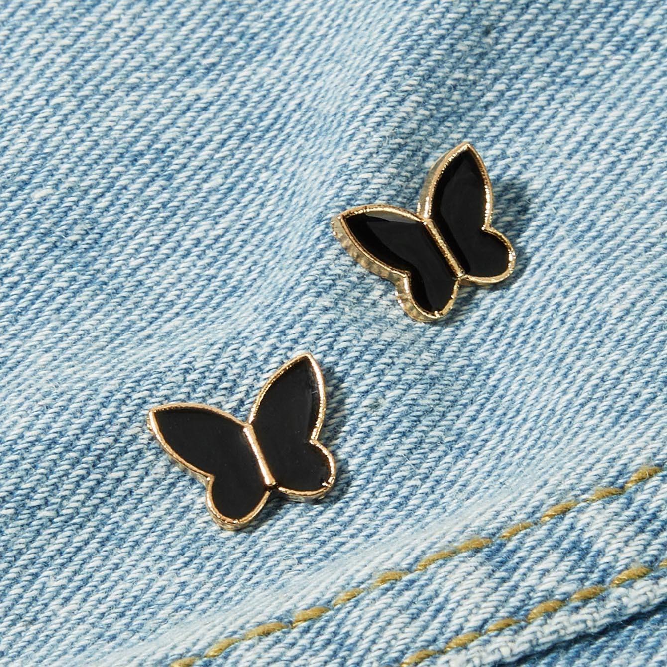 Комплект брошки в форме бабочки 2 шт от SHEIN
