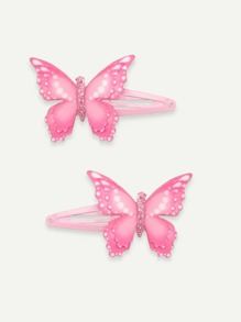 Butterfly Decorated Hair Clip 1pair