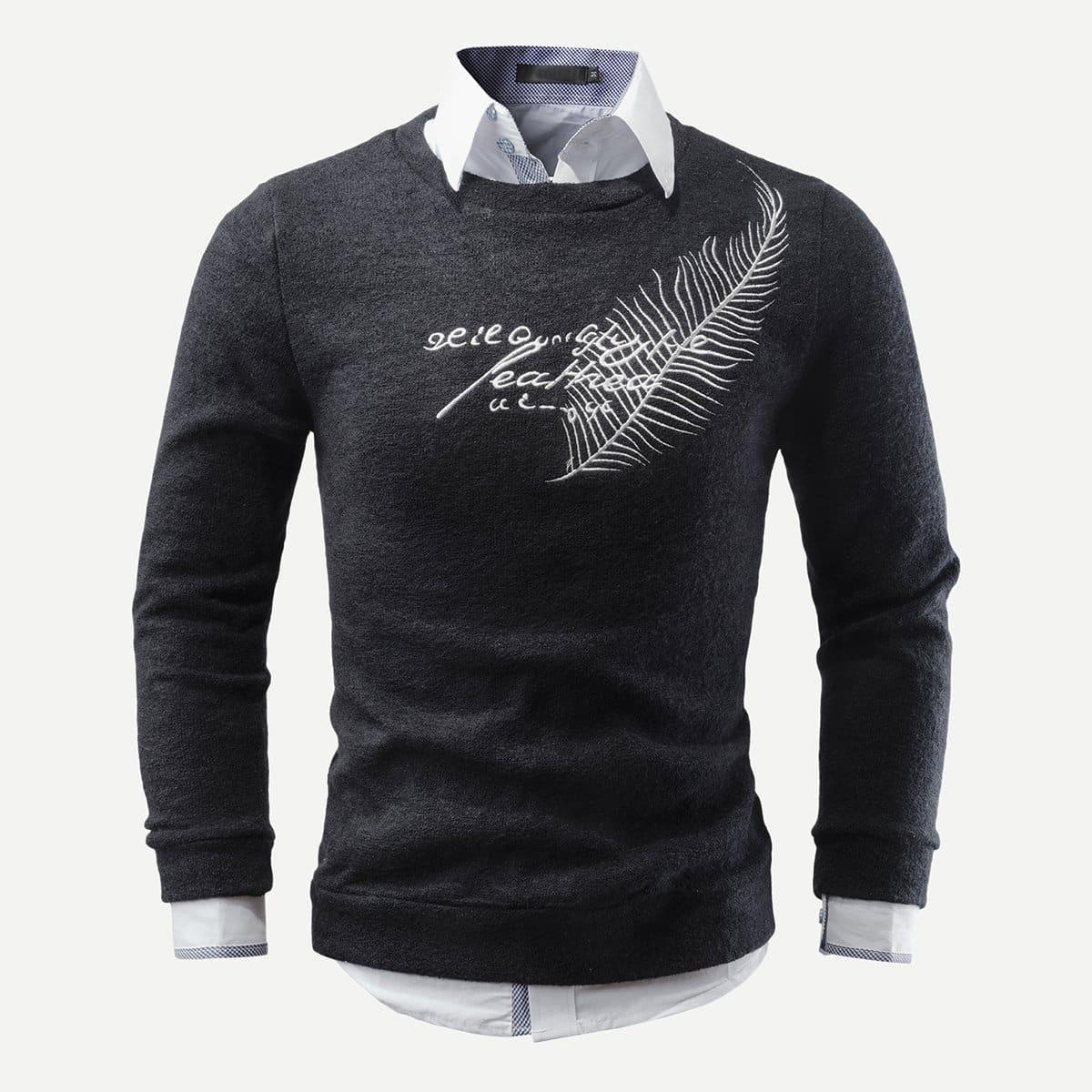 Мужский свитер с вышивкой