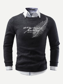 Men Embroidery Detail Sweater
