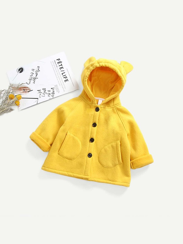 a617bfcc Toddler Girls Solid Hoodie Outerwear | SHEIN UK