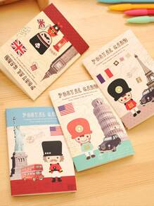 Random Cartoon Cover Notebook 4pcs