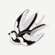 INOpets.com Anything for Pets Parents & Their Pets Color Block Bird Design Brooch