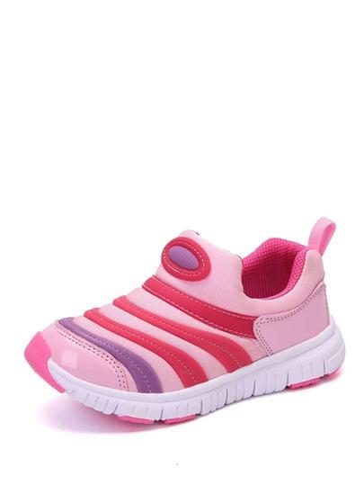 Sneakers da bambini a righe con blocchi di colore 83a6bb82bb4