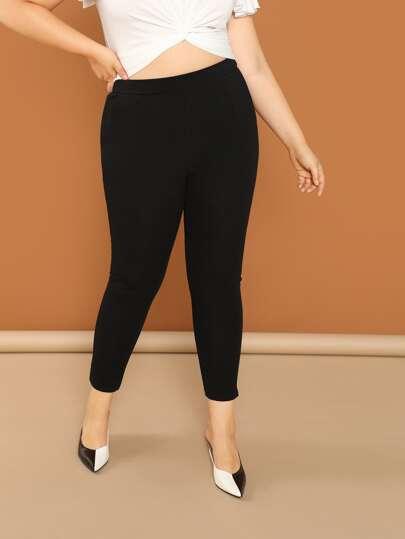8dbf3d37a3 Plus Size Pants, Shop Plus Size Pants Online   SHEIN IN