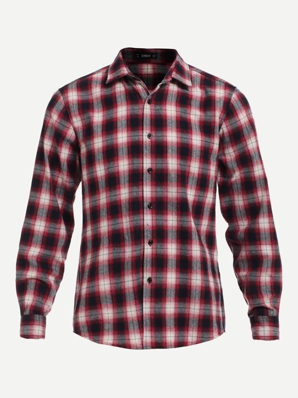 d302e0e802 Men Plaid Print Shirt | SHEIN