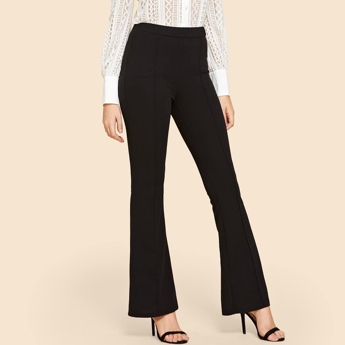 Расклешенные брюки с высокой талией