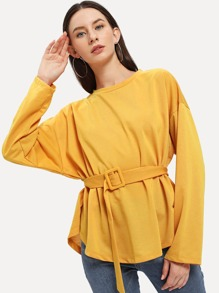 Batwing Sleeve Drop Shoulder Blouse