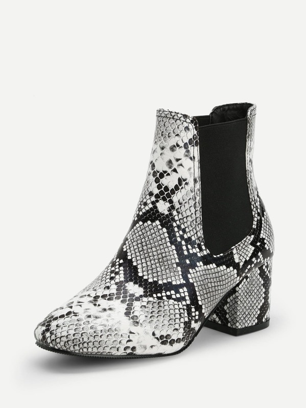 c3f26d6226 Snakeskin Pattern Ankle Boots | SHEIN IN