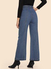 c0aa66471d Slant Pocket Tie Waist Jeans | SHEIN IN