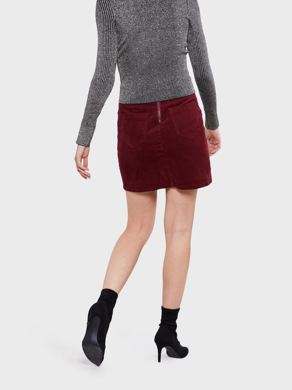 57057f3941d722 Corduroy Side Pocket Mini Skirt | SHEIN UK