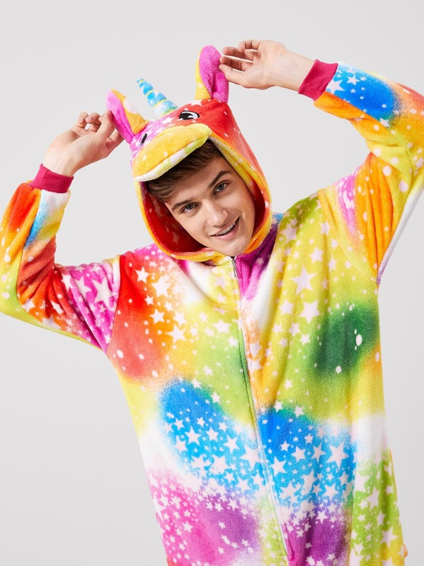 Vestito Da Stella Di Natale.Pigiama A Forma Di Unicorno Con Peluche Con Stampa Stella Di Natale Da Uomo