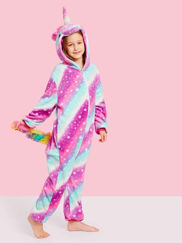Vestito Da Stella Di Natale.Pigiama A Forma Di Unicorno Con Peluche Con Stampa Stella Di Natale Da Bambini