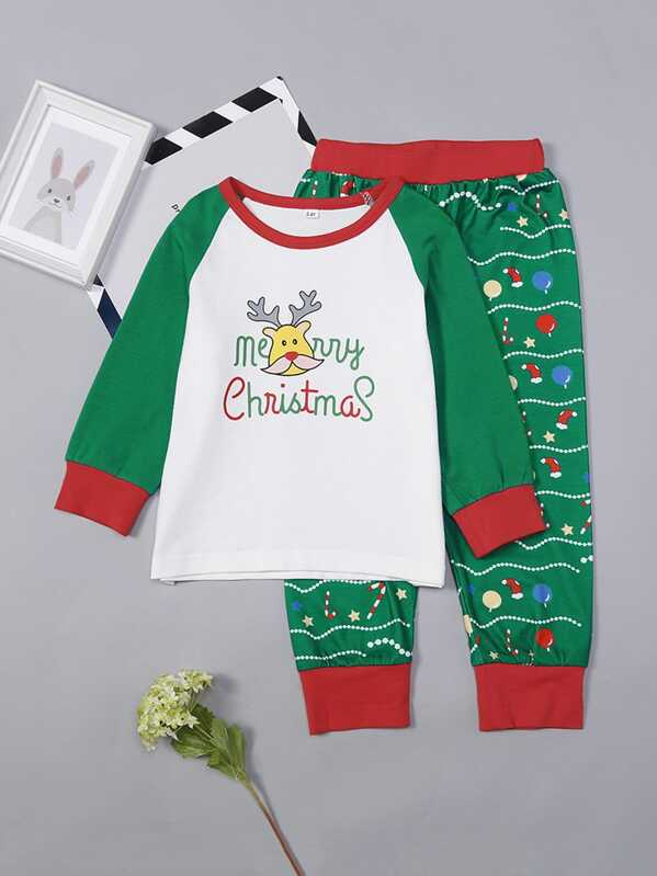 6b3aea01e1326 مجموعة بيجامة عيد الميلاد للأطفال