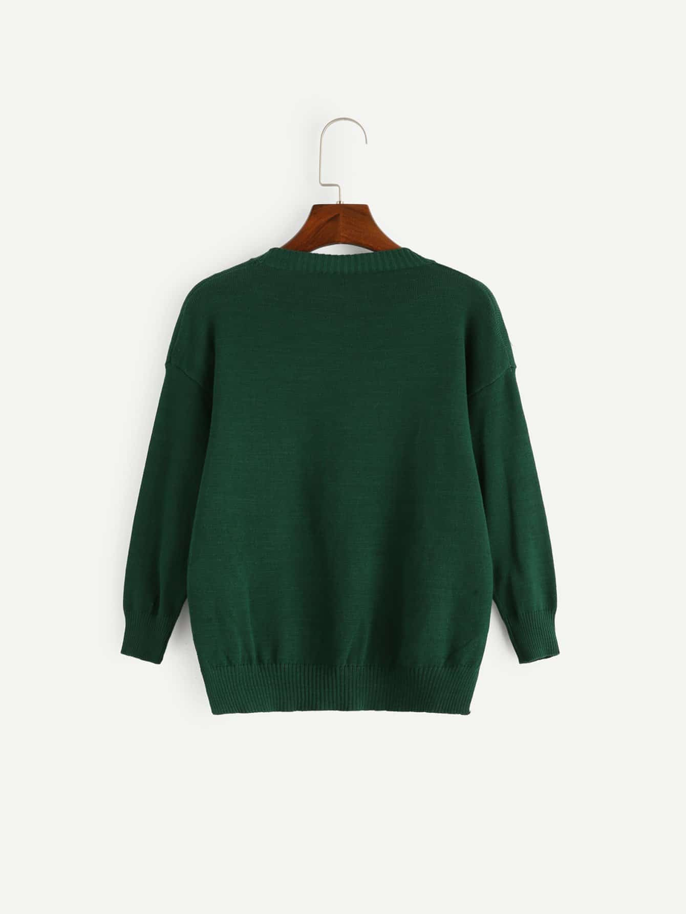 f927974f3 غير الرسمي الصاف ممزق أخضر ملابس العائلة | شي إن