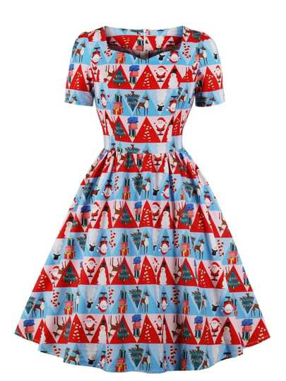 Kleider Für Weihnachten.50s Kleid Mit Weihnachten Muster