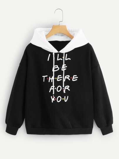 7fd495e574 Sweatshirts   Hoodies & Sweatshirts for Women   Letter Print & Crop ...