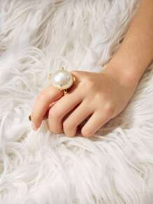 Faux Pearl Decorated Ring