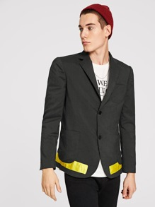 Men Single Breasted Pocket Blazer