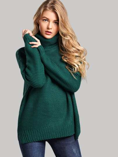 11aaac41268 Split Side High Neck Sweater