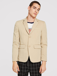 Men Solid Notch Collar Blazer