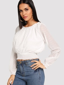 Wide Hem Sheer Top
