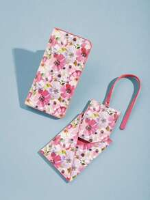 Floral Pattern PU Card Wallet
