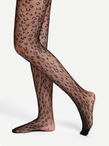 Leopard Sheer Tights