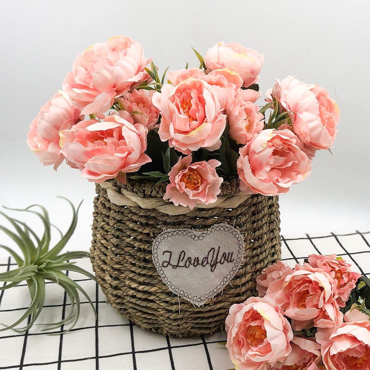 Künstliches Blumen Bündel mit Niederlassung 5pcs