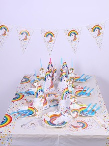 Unicorn Party Prop Set 90pcs