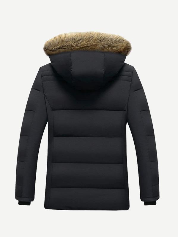262ac6968cc Men Fleece Lined Hooded Padded Coat
