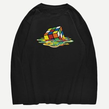 Guys Magic Cube Print Tee