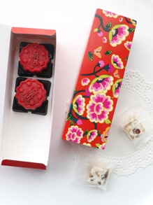 Floral Pattern Packaging Box 10pcs