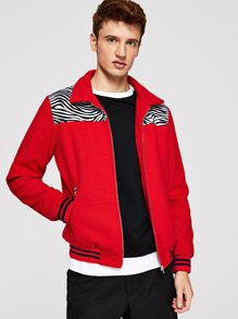 Men Zip Up Jacket