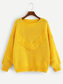Solid Round Neck Sweater