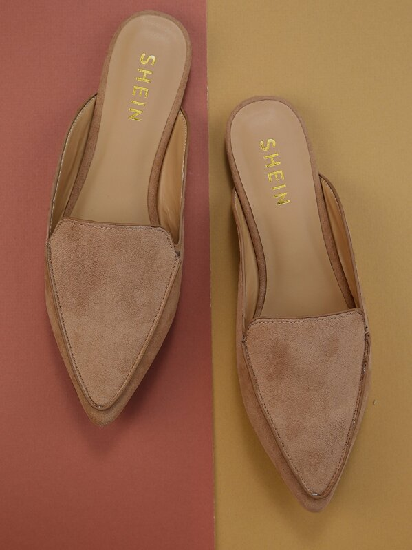 9d8a93a9a0e55 Open Back Pointed Toe Loafer Mules