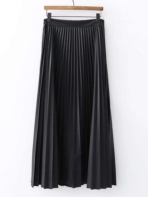 3671cdade4 Cheap Solid Pleated PU Skirt for sale Australia | SHEIN