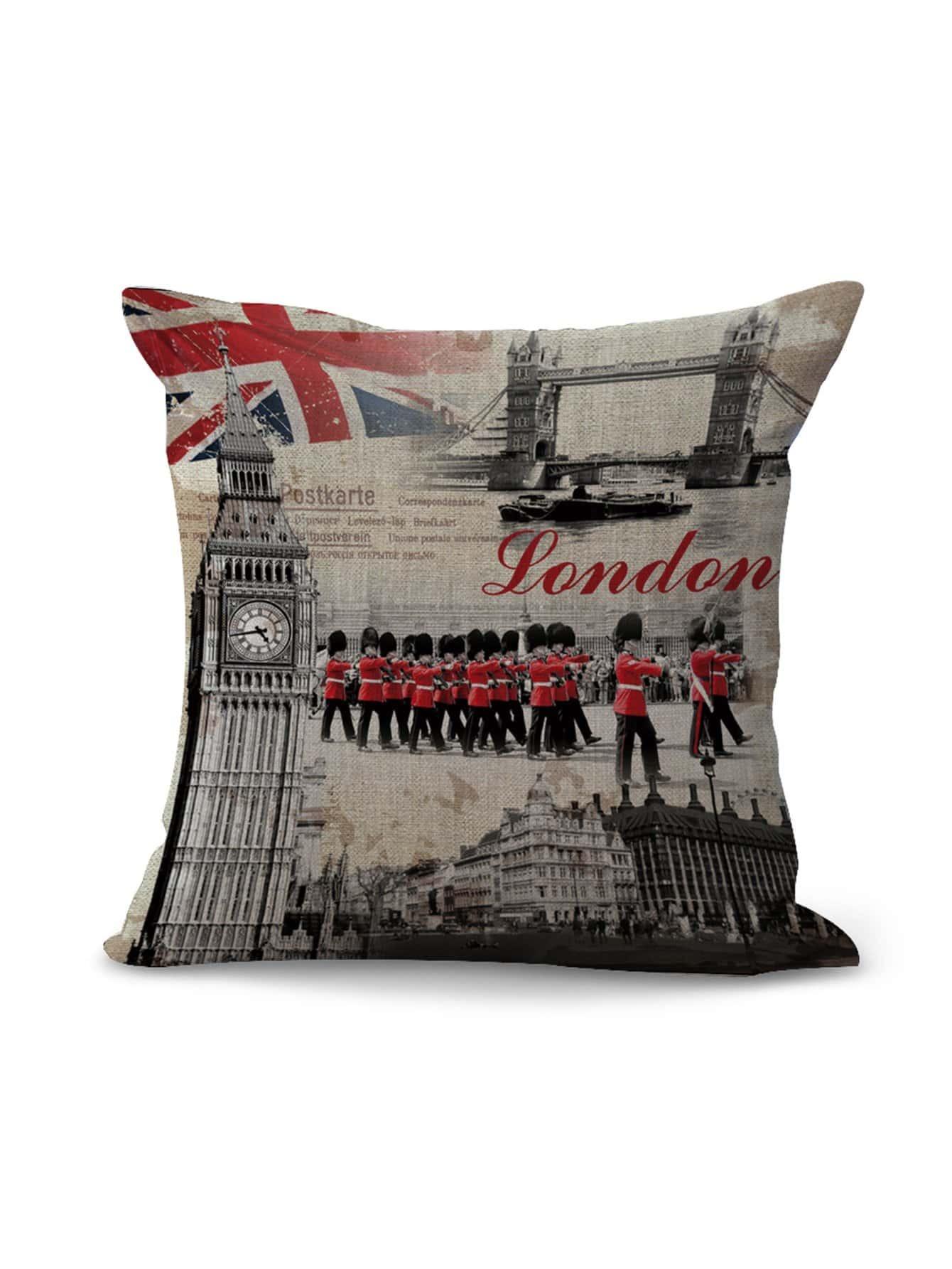 London City Graphic Square Pillowcase
