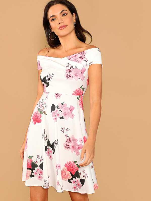 ce51e7ad7a5f Cheap Off Shoulder Fit   Flare Floral Dress for sale Australia