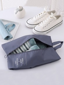 Letter Print Shoe Storage Bag
