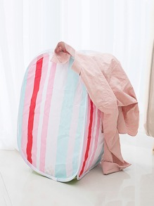 Striped Foldable Storage Basket