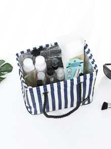 Striped Storage Bag With Handle
