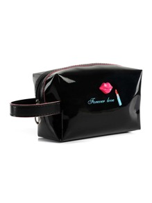 Letter Print Cosmetic Storage Bag
