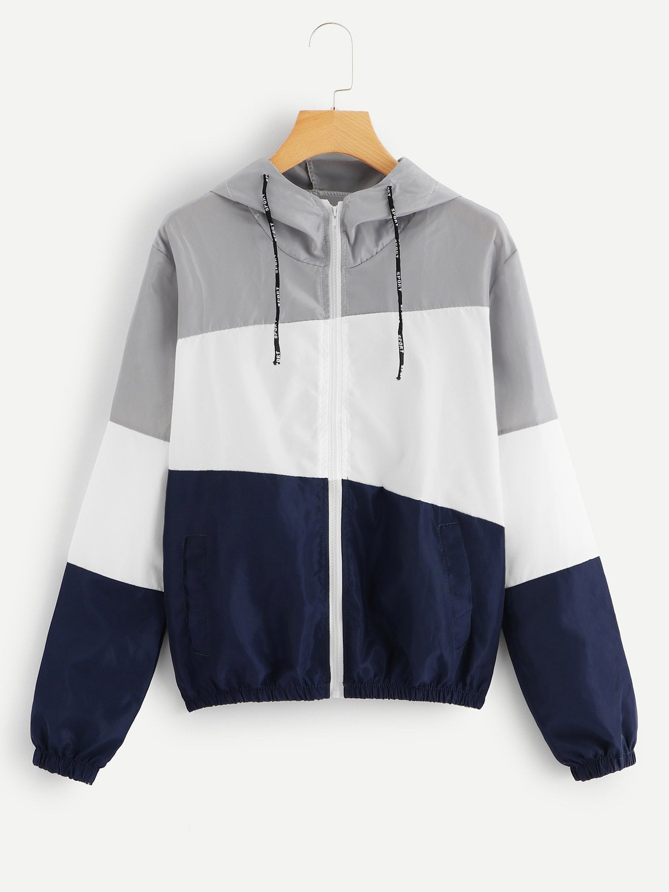 Color Block Hooded Jacket Color Block Hooded Jacket