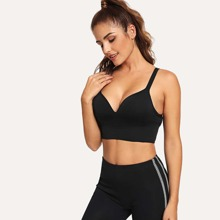 INOpets.com Anything for Pets Parents & Their Pets Cut-out Plain Sports Bra