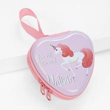 Heart Shaped Unicorn Print Coin Purse (bag181024327) photo