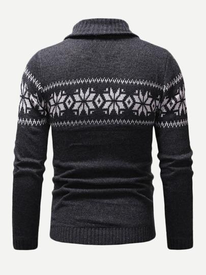Suéter de hombres con estampado de copo de nieve de Navidad  0744383aaee6