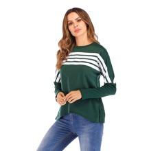SHEIN   Drop Shoulder Striped Sweatshirt   Goxip