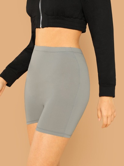 Legging short unicolore